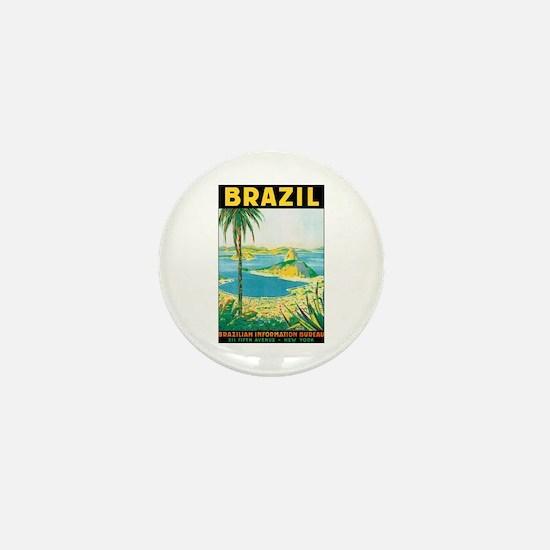 Brazil Mini Button