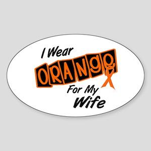 I Wear Orange For My Wife 8 Oval Sticker