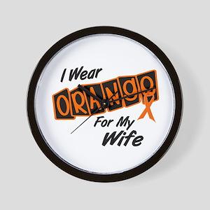 I Wear Orange For My Wife 8 Wall Clock