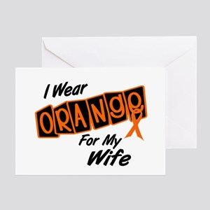 I Wear Orange For My Wife 8 Greeting Card