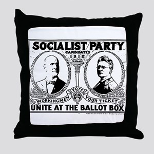 Vintage Eugene Debs Campaign Poster Throw Pillow