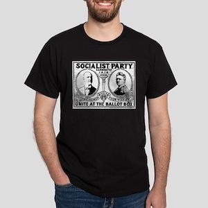 Vintage Eugene Debs Campaign Poster Dark T-Shirt