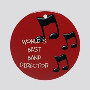 World's Best Band Director Ornament (Round)