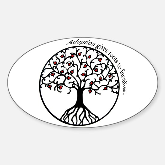 Adoption Roots Oval Decal