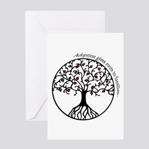 Adoption greeting cards cafepress adoption roots greeting card m4hsunfo
