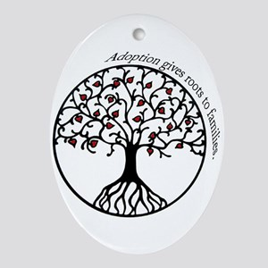 Adoption Roots Oval Ornament