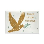 Golden Dove Holiday Rectangle Magnet (10 pack)