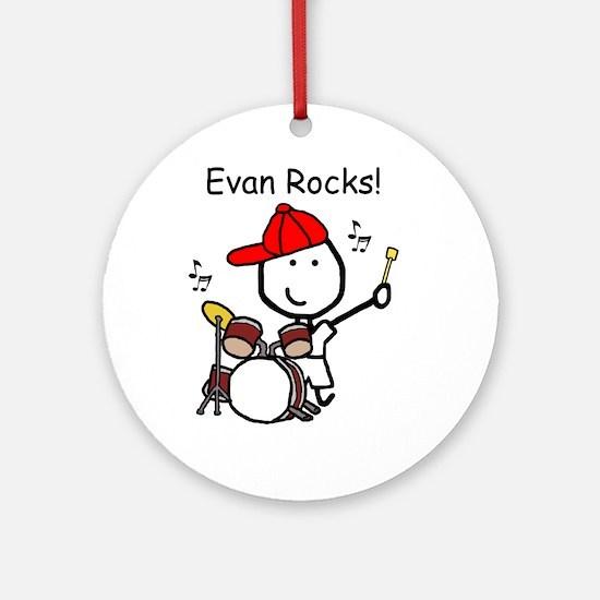 Drum Set - Evan Ornament (Round)