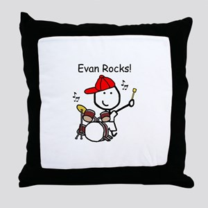 Drum Set - Evan Throw Pillow