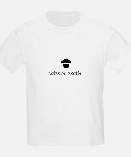 cake or death? kid's t-shirt