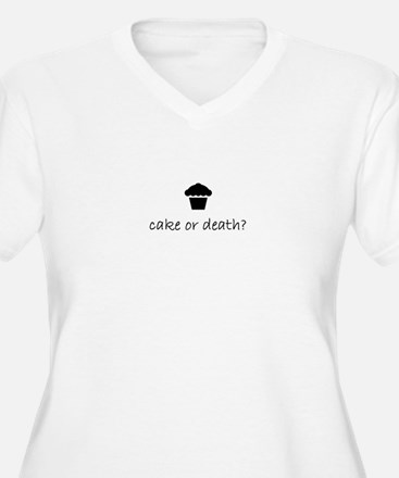 cake or death? women's plus size v-neck tee