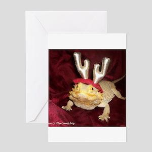 Reindeer Beardie Greeting Card