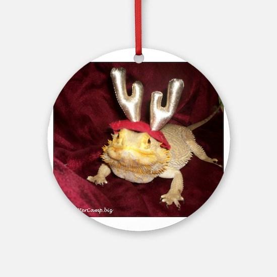 Reindeer Beardie Ornament (Round)