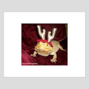 Reindeer Beardie Small Poster
