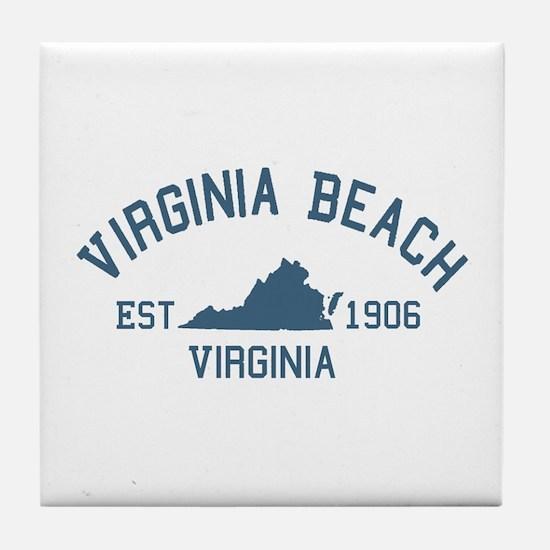 Virginia Beach VA Tile Coaster