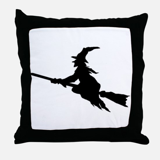 FLYING WITCHES Throw Pillow