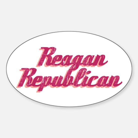 Reagan Republican (pink) Oval Decal