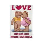 Teddy Love Rectangle Magnet