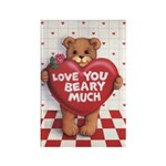 Love You Beary Much Rectangle Magnet