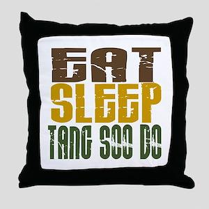 Eat Sleep Tang Soo Do Throw Pillow