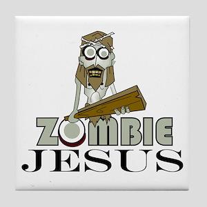 Zombie Jesus Tile Coaster