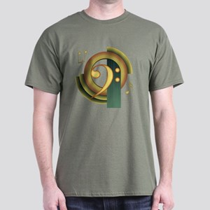 Bass Clef Deco Dark T-Shirt