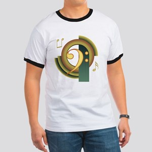 Bass Clef Deco Ringer T