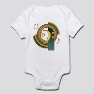 Bass Clef Deco Infant Bodysuit