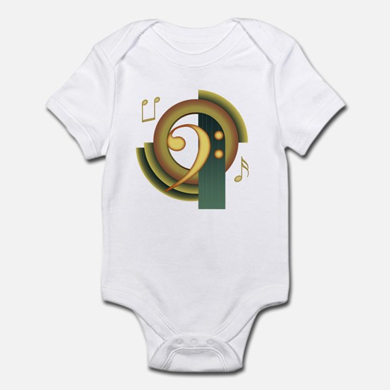 Bass Clef Deco Infant Bodysuit