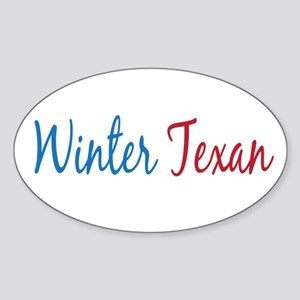 Winter Texan Oval Sticker (10 pk)