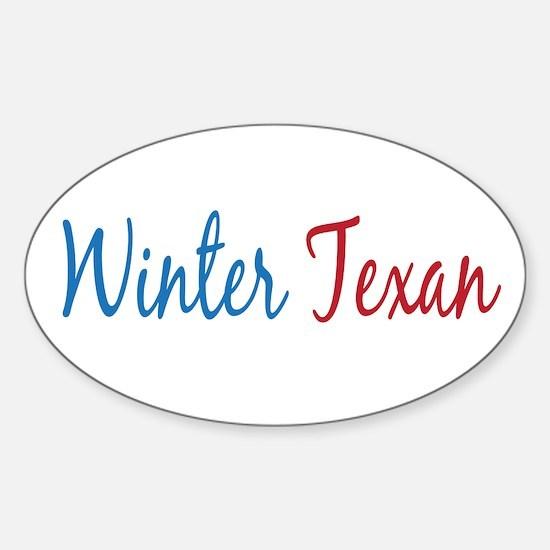 Winter Texan Oval Sticker (10 pk)