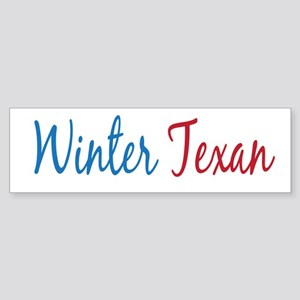 Winter Texan Bumper Sticker