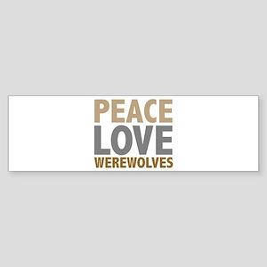 Peace Love Werewolves Twilight Bumper Sticker