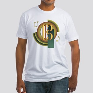 Alto/Tenor Clef Deco Fitted T-Shirt