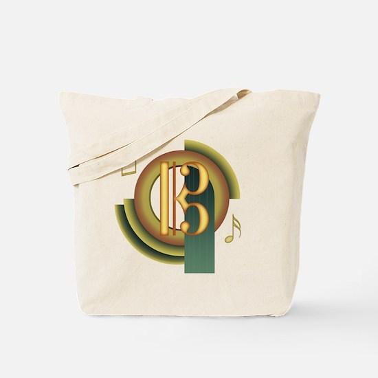Alto/Tenor Clef Deco Tote Bag