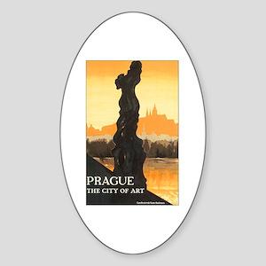 Prague Czech Republic Oval Sticker