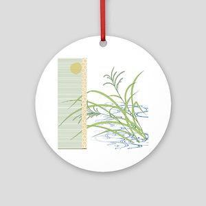 screen w/ grass and stream Ornament (Round)