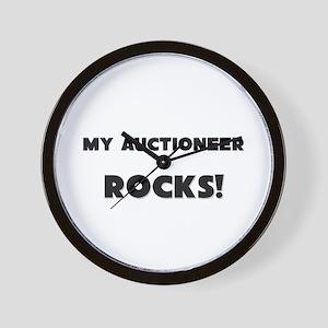 MY Auctioneer ROCKS! Wall Clock