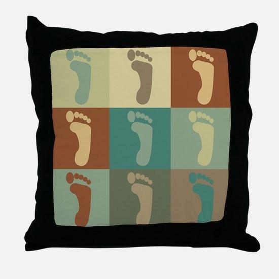 Podiatry Pop Art Throw Pillow