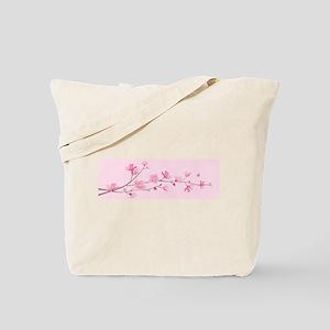 Cherry Blossom - Rose Quartz Tote Bag