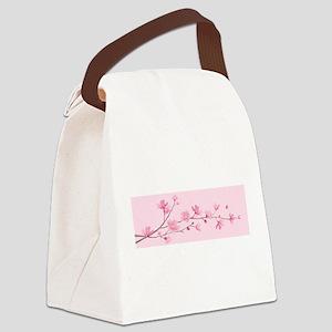 Cherry Blossom - Rose Quartz Canvas Lunch Bag