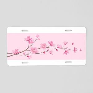 Cherry Blossom - Rose Quart Aluminum License Plate