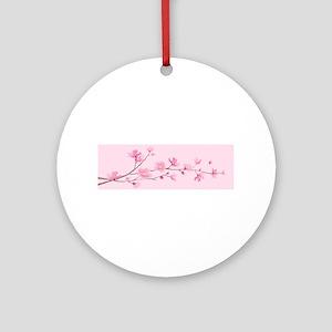 Cherry Blossom - Rose Quartz Round Ornament
