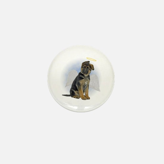 Angel German Shepherd Puppy Mini Button