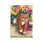 Blame it on the Dog Rectangle Magnet