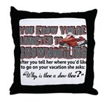 YKYATS - Snowmobile Shows Throw Pillow