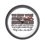 YKYATS - Snowmobile Shows Wall Clock