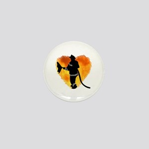 Firefighters and Flames Mini Button