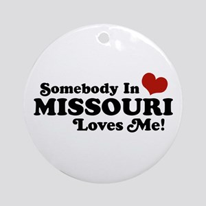 Somebody In Missouri Loves Me Ornament (Round)