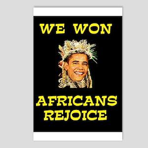 WE WON! WE WON! Postcards (Package of 8)